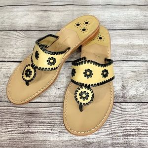 Jack Rogers Navajo Whipstitch Leather Sandals